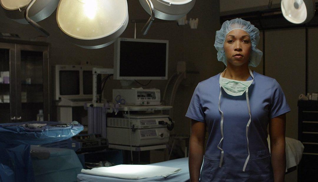 a nurse in scrubs